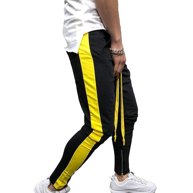 Hombres Moda Empalmado Pantalones Deportivos Zipper Pies Pantalones Harem  Pantalones de chándal Pantalones Casual Slim fit Jogger Sportwear Baggy  Hiphop ... ba88aa9952a