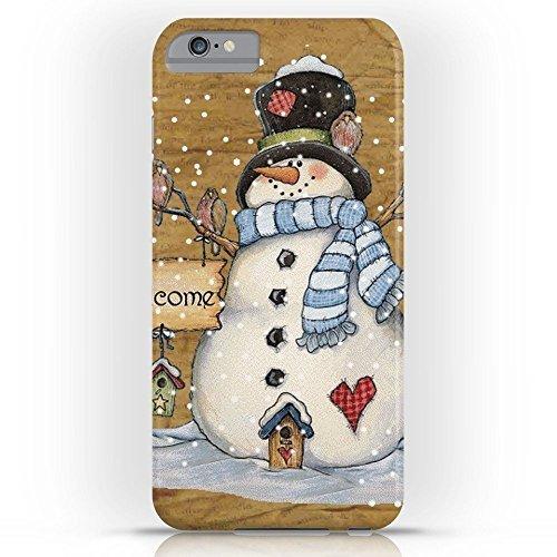 Garden Folk Art - Roses Garden Phone Case Protectivedesign Cell Case Folk Art Snowman Slim Case for iPhone 6 Plus