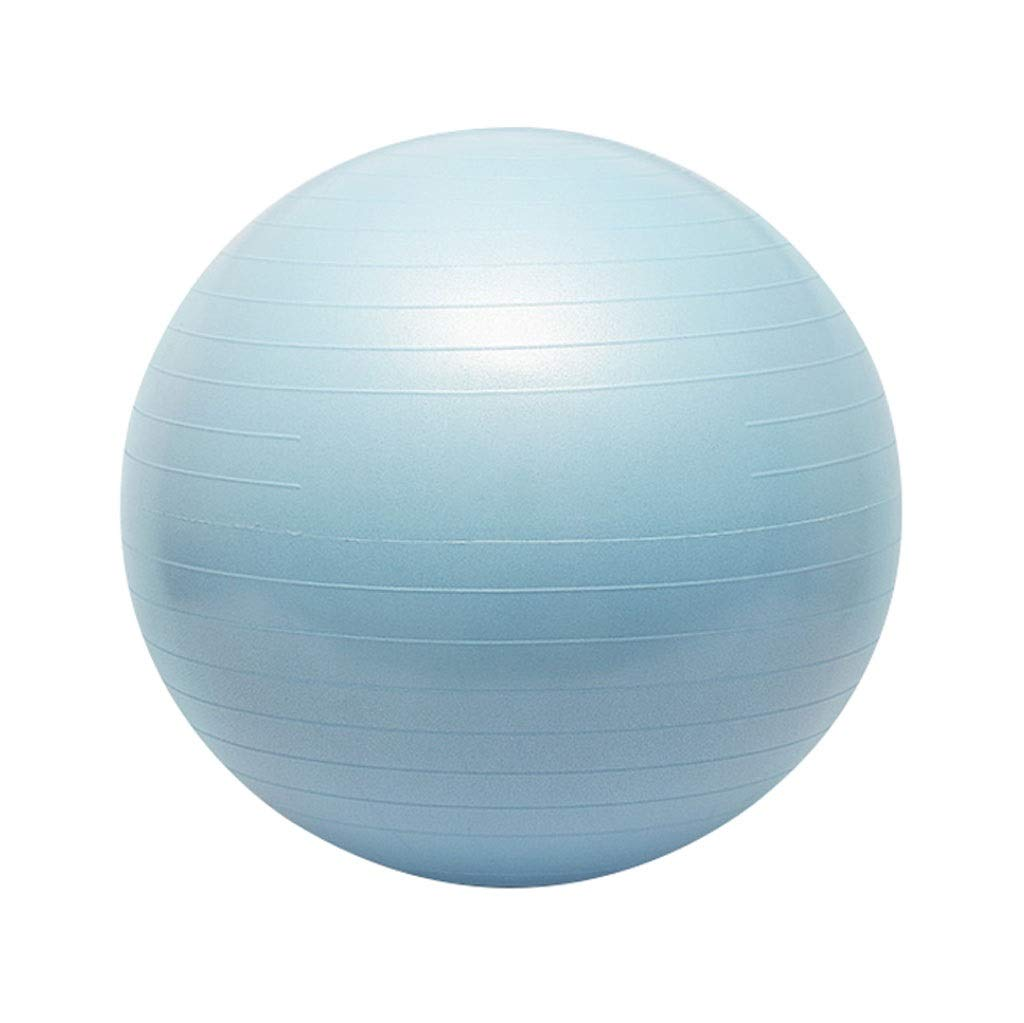 Exercise Fitness Ball, Anti-Burst Yoga Swiss Ball with Hand Pump, for Gym Ball Pilates Yoga Core Training and Physical Therapy Improves Balance (Office & Home) (Color : Blue, Size : 55cm)