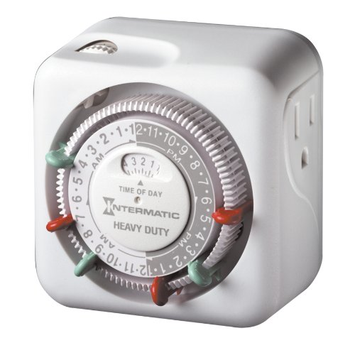 Intermatic TN311 15 Amp Timer for Indoor Lights and Decorations, - Manual Timer Accessory