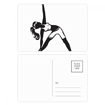 DIYthinker Yoga Girl Stretching Mantenga la tarjeta Gracias ...
