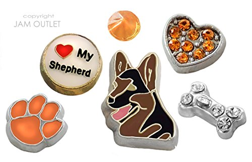 Lover Floating Charm Set - Dog Charms - Fits all 30mm Living Memory Glass Lockets ()