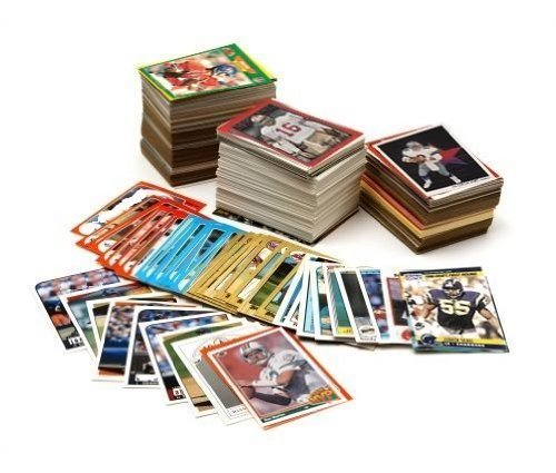 NFL Football Card Collector Box with Over 500 Cards - Collectors Football