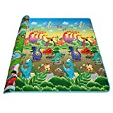 Baby Kids Children Play-Mat Two Sides Playing Activity Pad, Waterproof, Large, Assorted Soft Colors (Type 6)