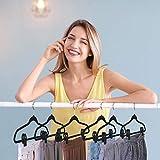 Trgowaul Velvet Hangers Clips, 20 Pack Black