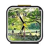 Sunshine country stone green summertime trees dAlarm Clock Alarm Clock Home Kitchen Decorative 3.27Inchd