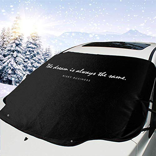 ENXIANGXIJ Risky Business Opening Lines Car Windshield Snow Cover, Ice Removal Sun Shade, Fit for Universal Cars (58'' X47'')