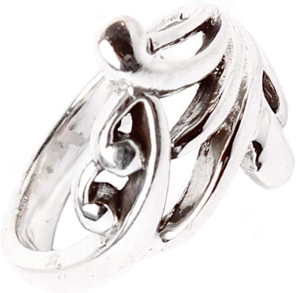 CHIC de Net Plata Anillo delicado patrón plata de ley 925 anillo unisex joyas plata anillos 56 (17.8): Chic-Net: Amazon.es: Joyería
