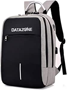 DATAZONE anti-theft backpack for college students, school students, short trip backpack, light Grey color DZ-BP2060