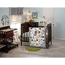NoJo by Jill McDonald Abc Alphabet with Me Crib Bedding Set