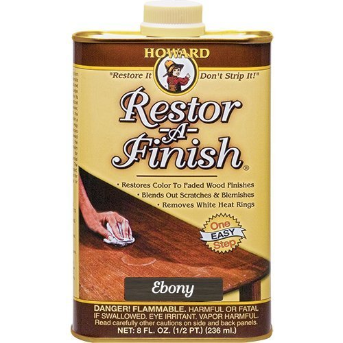 Howard Restor-A-Finish Ebony Brown 8oz -