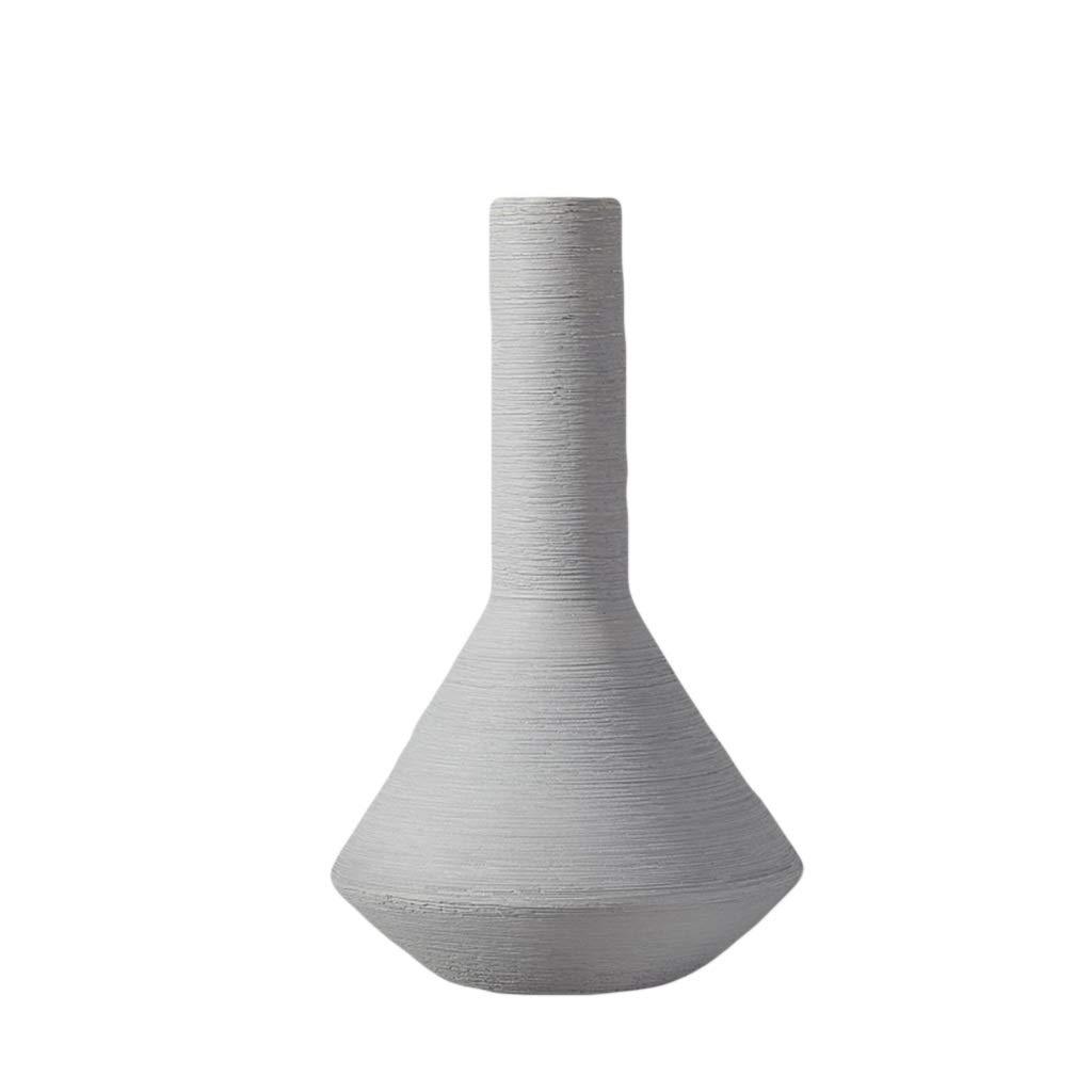 花瓶クリエイティブテーブル入れドライフラワー挿入シングルフラワー小さな装飾品現代のミニマリスト人格北欧セラミック家具 LQX (Size : M) B07RLCJ2XH  Medium