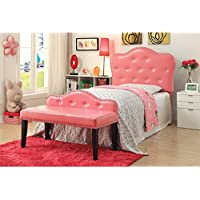 HOMES: Inside + Out Lovella I Contemporary Headboard, Twin, Pink