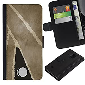 All Phone Most Case / Oferta Especial Cáscara Funda de cuero Monedero Cubierta de proteccion Caso / Wallet Case for Samsung Galaxy S5 Mini, SM-G800 // Modern Art Painting Door Knub Watercolor