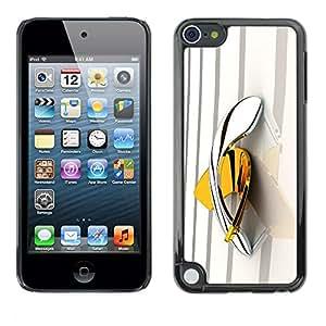 Caucho caso de Shell duro de la cubierta de accesorios de protección BY RAYDREAMMM - Apple iPod Touch 5 - Gold Platinum Bling
