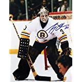 Gerry Cheevers Autographed 8x10 Photograph (White) - Boston Bruins