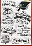 Dare 2B Artzy Graduate Clear Cling Rubber Stamp Set 18267