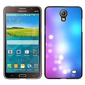 LECELL--Funda protectora / Cubierta / Piel For Samsung Galaxy Mega 2 -- Azul rosado Blanco brillante Luces --