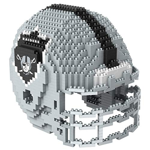 Oakland Raiders NFL 3D BRXLZ Construction Toy Blocks Set - Helmet