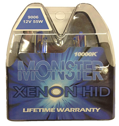 EuroDezigns 9006 Monster Blue Headlights - Low Beam 10,000k Xenon-Krypton HID Halogen Replacement Bulbs - (Pair) - 9006 Headlight Bulbs 10000k