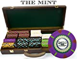 Claysmith Gaming 500-Count 'The Mint' Poker Chip Set in Walnut Case, 13.5gm