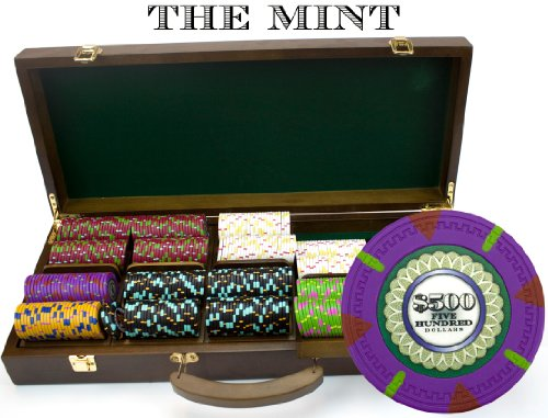 Claysmith Gaming 500-Count 'The Mint' Poker Chip Set in Walnut Case, 13.5gm by Claysmith Gaming