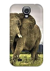 EoG-3143zAeTinPK Case Cover Frican Elephant Walking On Savanna Marakele National Park South Africa Galaxy S4 Protective Case