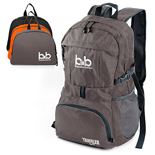 BB Traveler 37L - Lightweight Foldable Backpack for Traveling - Packable Travel Hiking Daypack for Women Men & Kids (Multiple Colors)