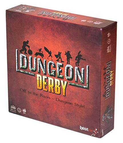 Deluxe Dungeon Derby Board Game - A Push Your Luck Strategy Game - Includes 6 Mini's (Best Of Luck Games)