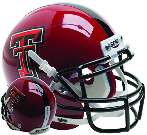 (Schutt NCAA Texas Tech Red Raiders Mini Authentic XP Football Helmet)