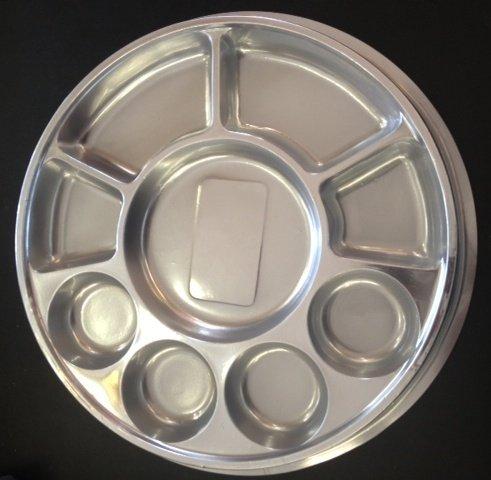 Amazon.com Silver 9 Compartment Disposable Plastic Plate (Thali) - 50 Plates by Namaste India Kitchen \u0026 Dining & Amazon.com: Silver 9 Compartment Disposable Plastic Plate (Thali ...