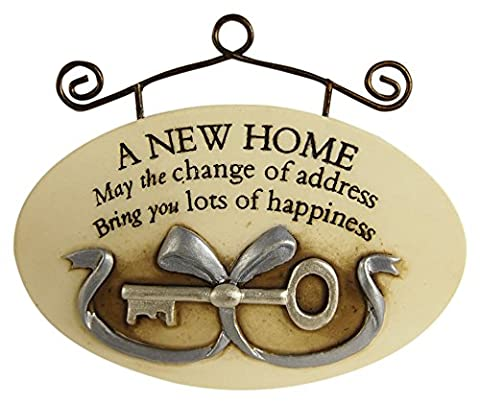 Garden Collection 3070009 Hanging Oval A New Home Plaque (New House Plaque)