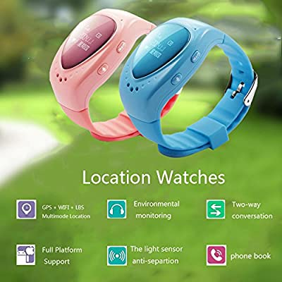 AMAZING162 A6 Children Smart Watches - Kids Safety with WiFi + LBS + GPS 3 Mode of Positioning