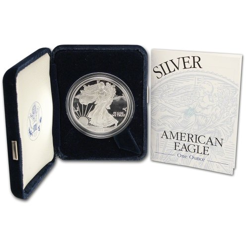 1999 P American Silver Eagle Proof $1 OGP US - Proof American Coin Eagle Silver