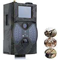 Rumfo Trail Camera, with Integrated 2 LCD Screen, Long Range Night Vision, High-Sensitivity Motion Detection up to 65ft, 12MP Wildlife Trail Cameras Scouting Digital Camera