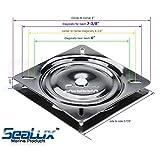 SeaLux Universal Heavy Duty 360 degree Seat Swivel Base Mount Plate for Bar Stool, Chair, boat or van pilot seat