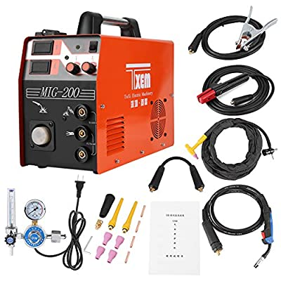 DC Inverter Welder - 3-in-1 220V Digital Display Welding Machine MIG/TIG/ARC Welder Complete Accessories Set