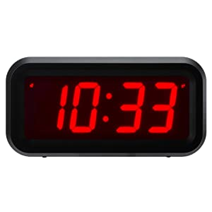 """ChaoRong Small Wall/Shelf/Desk Digital Clock Only Battery Operated with 1.2"""" Large Display. 4pcs Batteries Can Keep The Time Display Day and Night for More Than One Year (Black)"""