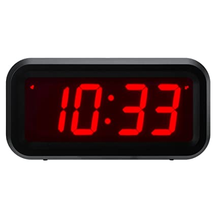 "ChaoRong Small Wall/Shelf/Desk Digital Clock Only Battery Operated with 1.2"" Large"