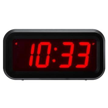 Reloj con alarma de ChaoRong, tamaño pequeño, funciona con pilas, digital, de
