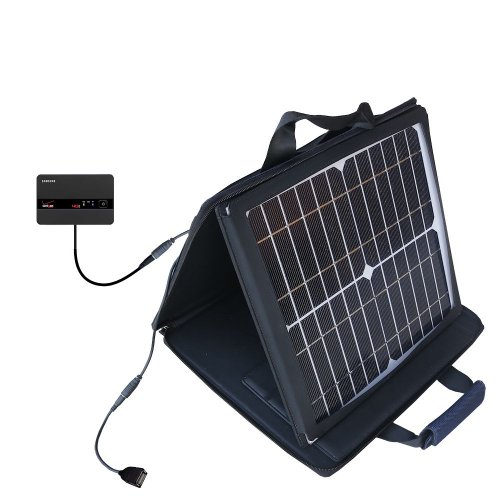 Samsung 4G LTE SCH-LC11 Hotspot compatible SunVolt Portable High Power Solar Charger by Gomadic - Outlet- speed charge for multiple gadgets by Gomadic
