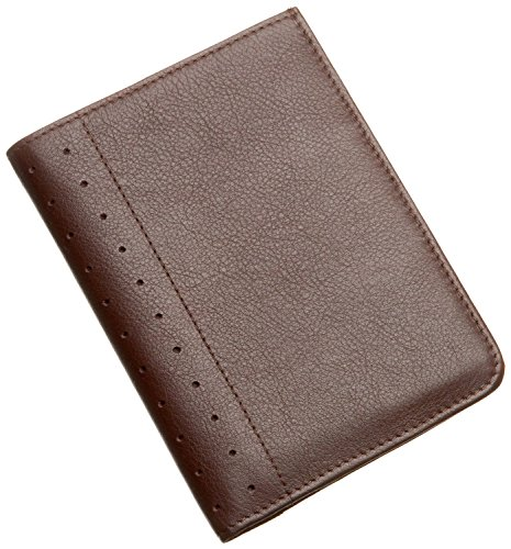 Cross Executive Traveller' Companion Autocross Genuine Full Grain Italian Leather Men's Passport Wallet , Money Wallet and Card Holder (Brown) (Cross Autocross Pen Pocket)