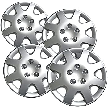 Hub-Caps for Select Honda Accord (Pack of 4) 15 Inch Silver Wheel