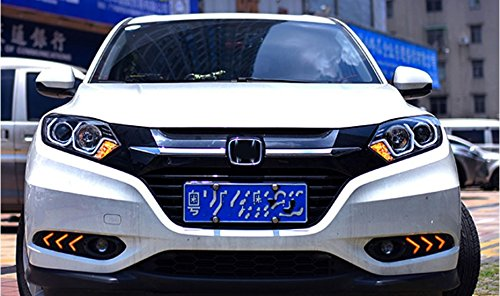 GOWE Car Styling For honda HRV headlights For VEZEL HRV LED head lamp Angel eye led DRL front light Bi-Xenon Lens xenon HID Color Temperature:6000K;Wattage:35K 4