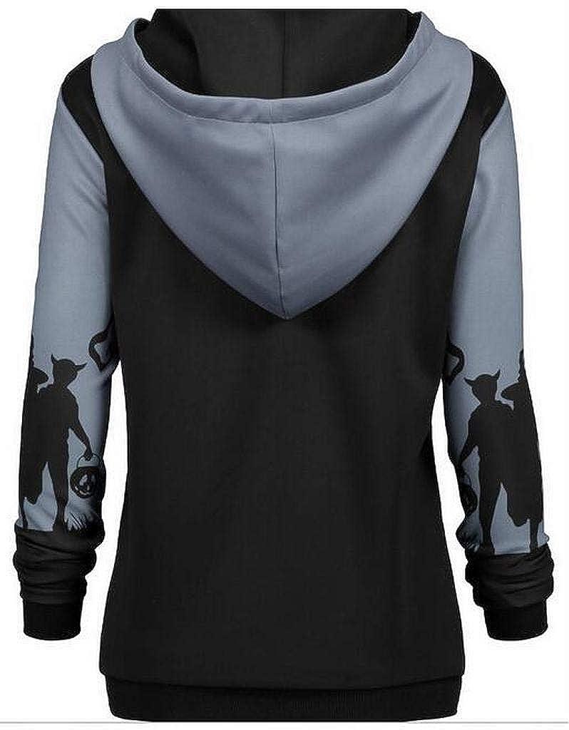 Jofemuho Womens Plus Size Fall Winter Hoodie Halloween Pullover Hoodies Sweatshirt