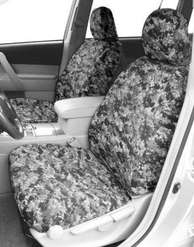 CalTrend Front Row Bucket Custom Fit Seat Cover for Select Dodge/RAM Models - Camouflage (Urban) -