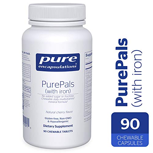 Pure Encapsulations – PurePals with Iron – Hypoallergenic Multivitamin Mineral Formula for Cognitive Function, Mood and Immune Support* – 90 Chewable Tablets