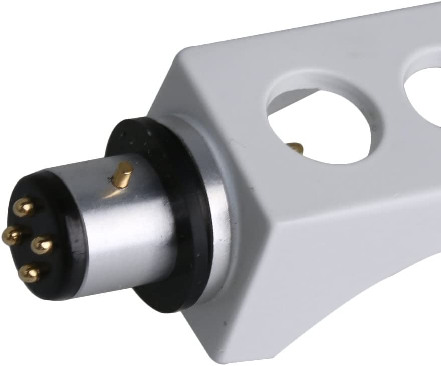White Metal Record Player Turntable Cartridge H-4 Headshell for Phonograph