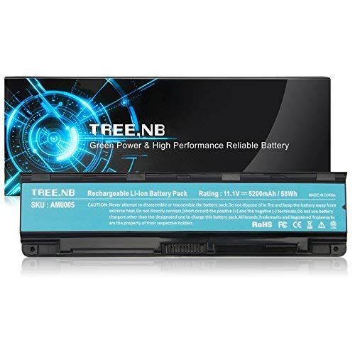 Tree.NB 6-Cell High Performance Laptop Battery for Toshiba PA5024U-1BRS PA5023U-1BRS PA5025U1BRS PA5026U-1BRS PA5027U-1BRS, PABAS259 C55 C800 C845 C855 L835 L850, UPGRADED Cells Li-ion Battery Packs (Toshiba Nb205 Battery)