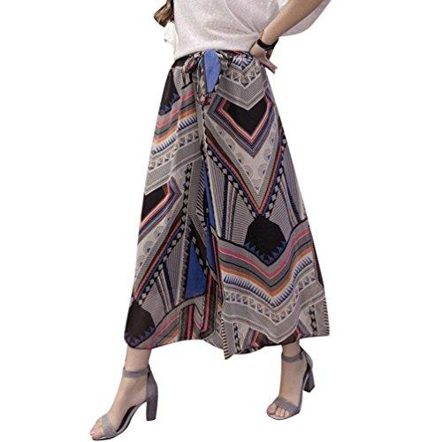 Libero Estivi Baggy Pantaloni Cintura Chiffon Pantalone Fashion Donna Geometrie Eleganti Pantalone Palazzo Inclusa Waist Pantaloni Semplice Larghi Modello High Glamorous Tempo Gonna Pantaloni Fiore Culotte qwIBRUn